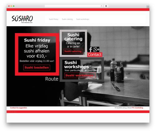 Genuine WordPress page template - sushiro.nl