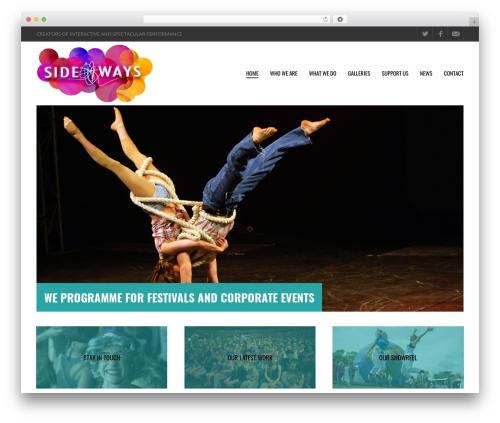 Metric WordPress theme - sidewaysarts.co.uk