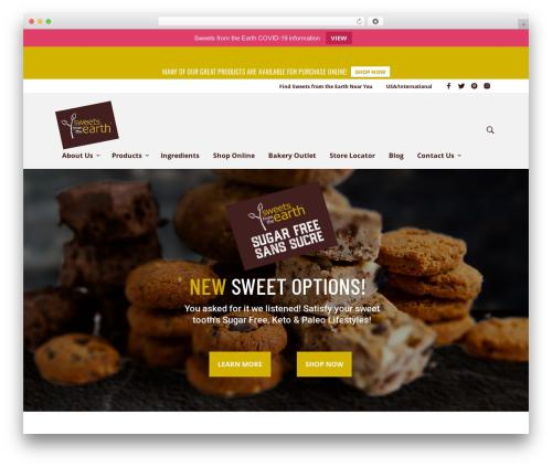 Mr. Tailor WordPress theme - sweetsfromtheearth.com