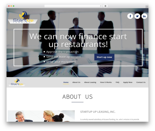 startup free WordPress theme - startuplease.com