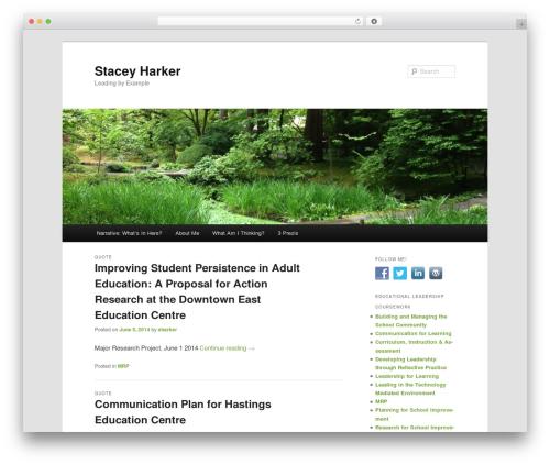 Twenty Eleven WordPress theme download - staceyharker.com