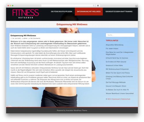 Avocation template WordPress free - fitness-ratgeber24.de