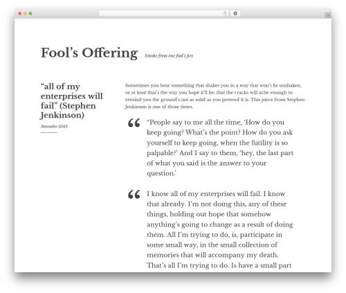 Best WordPress theme Libre 2 - foolsoffering.com