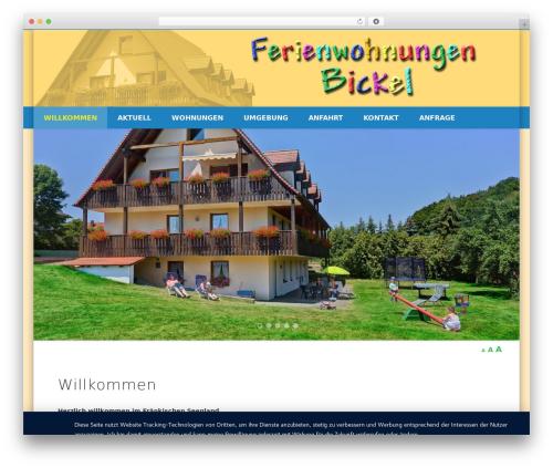 Best WordPress theme Pinboard - ferienwohnung-bickel.de