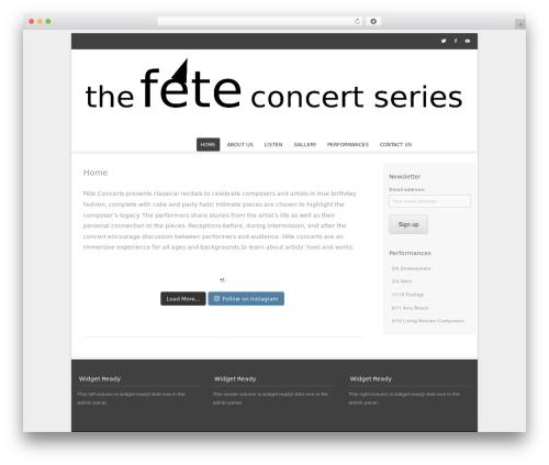 Bota WordPress template free - feteconcerts.com