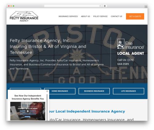 BrightFire Stellar business WordPress theme - feltyinsurance.com