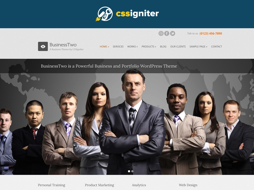 BusinessTwo WordPress template for business