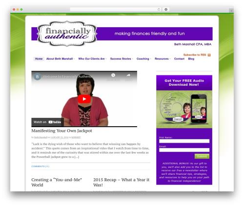 Canvas WordPress theme - financiallyauthentic.com