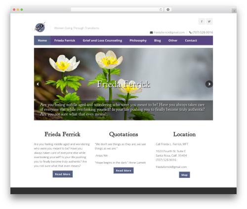 Centum theme WordPress - friedaferrick.com