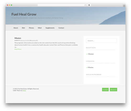 Coller free WordPress theme - fuelhealgrow.com