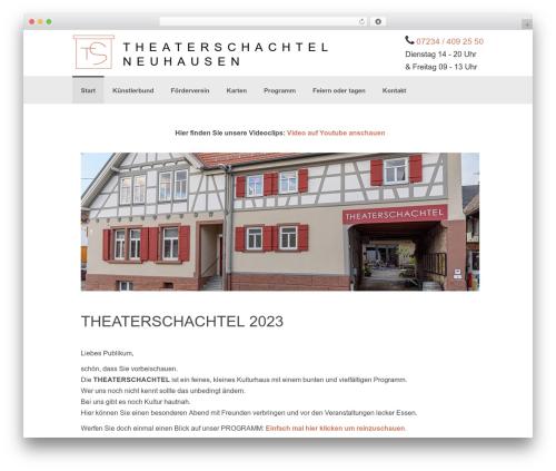 Coller WordPress theme design - theaterschachtel.de