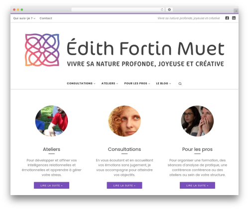Customizr free WP theme - fortin-muet.fr