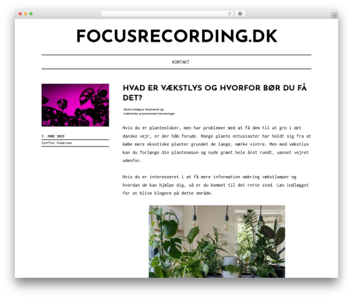 Didi Lite best WordPress theme - focusrecording.dk
