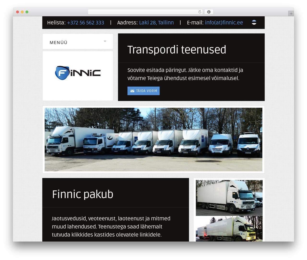 Eagle Logistics WordPress website template by Tom Rhodes