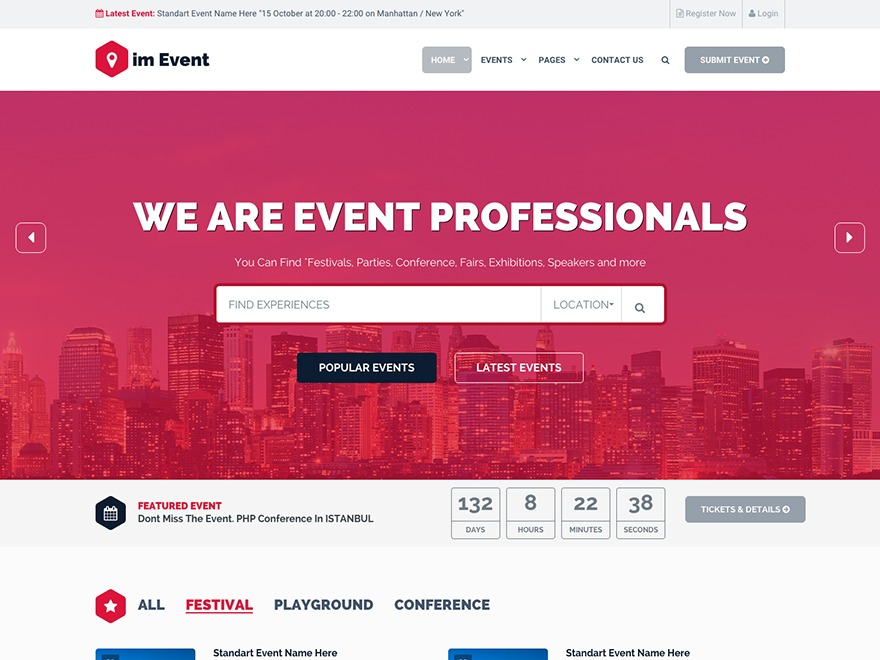 EventMana WordPress template