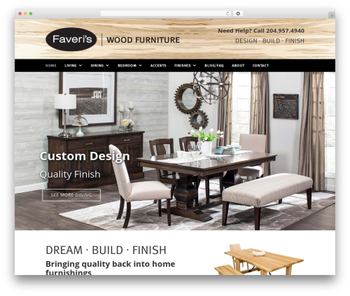 Faveris-theme premium WordPress theme - faveriswoodfurniture.com