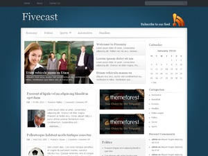 Fivecast newspaper WordPress theme
