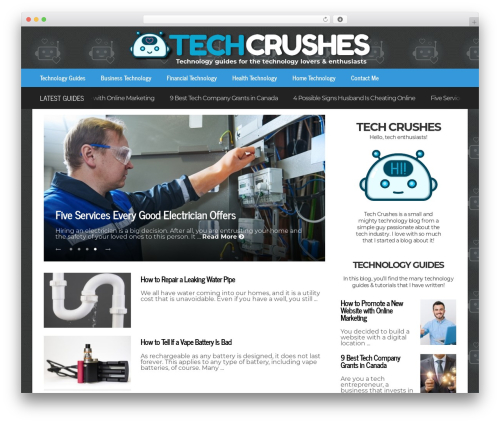 FlatNews best WordPress template - techcrushes.com