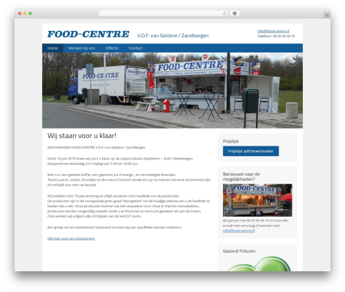 Food-Centre food WordPress theme - food-centre.nl