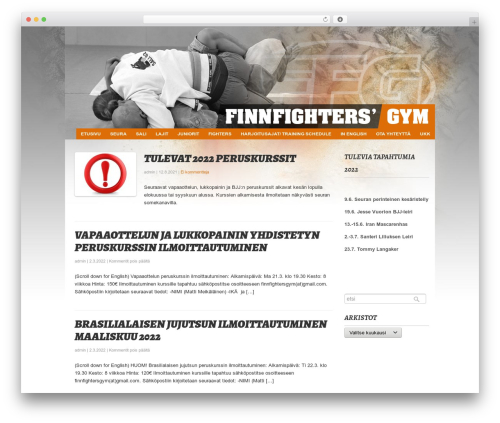 Fresh And Clean fitness WordPress theme - finnfightersgym.fi/wp