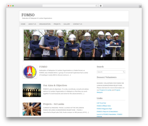 Fresh And Clean top WordPress theme - fomso.org/v1