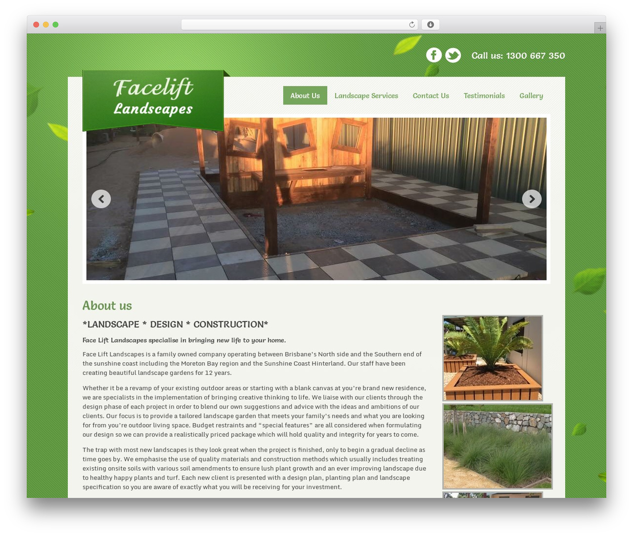 Greenline landscaping WordPress theme - faceliftlandscapes.com.au