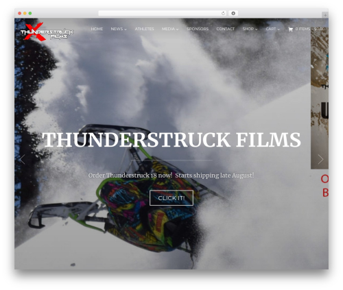 Inspiro business WordPress theme - thunderstruckfilms.com