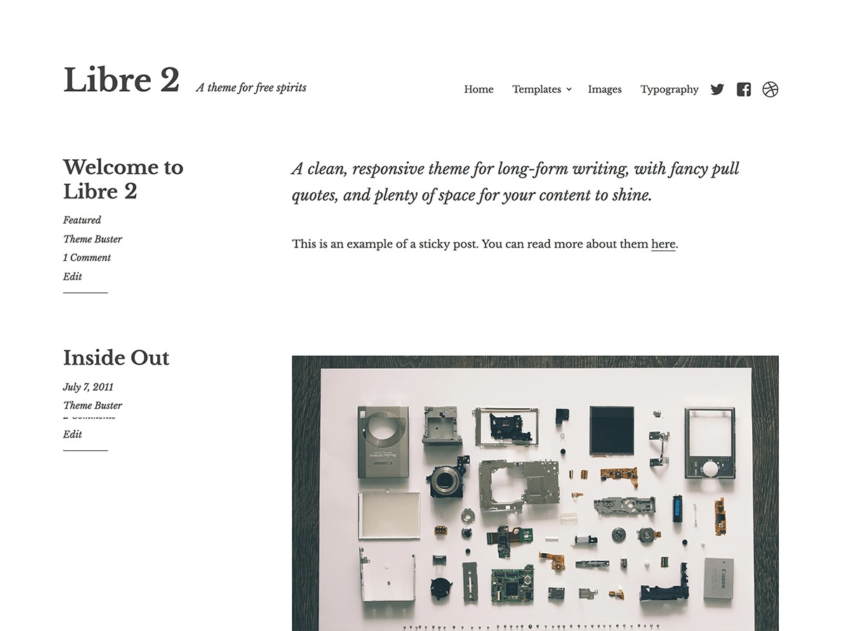 Libre 2 WordPress blog template