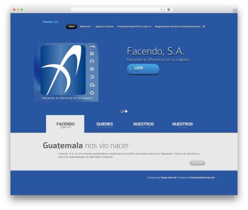 Nova theme WordPress - facendosa.com