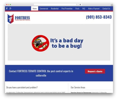 Pest Control V7 best WordPress template - fortresstermite.com