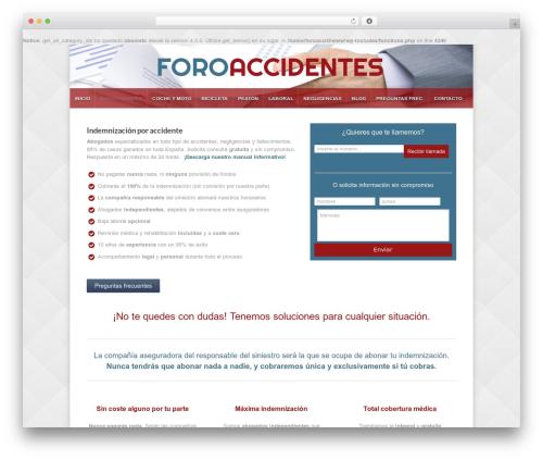 Razor WordPress template - foroaccidentes.com