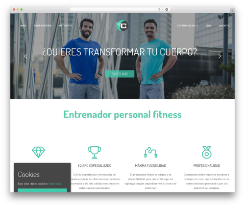 Ronneby WordPress theme - fitness-coach.es