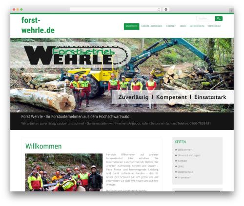 Selfie free WordPress theme - forst-wehrle.de