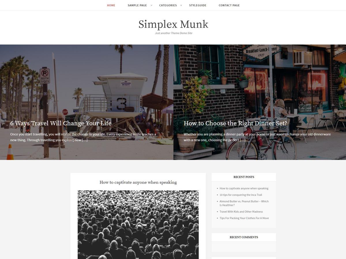 Simplex Munk free WP theme