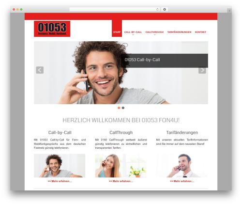 Small Business free WP theme - fon4u.de