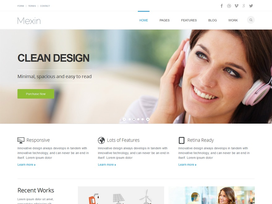 Switch WordPress template for business