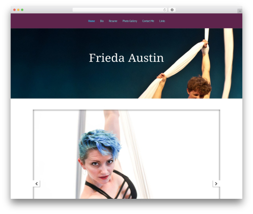 Template WordPress Vertex - friedaaustin.com