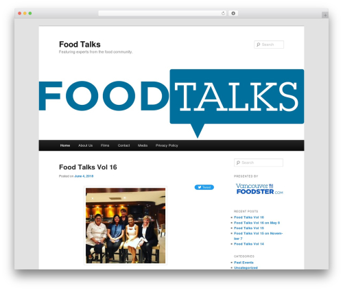 Twenty Eleven food WordPress theme - foodtalks.ca