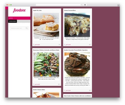 Vivo food WordPress theme - foodvee.com