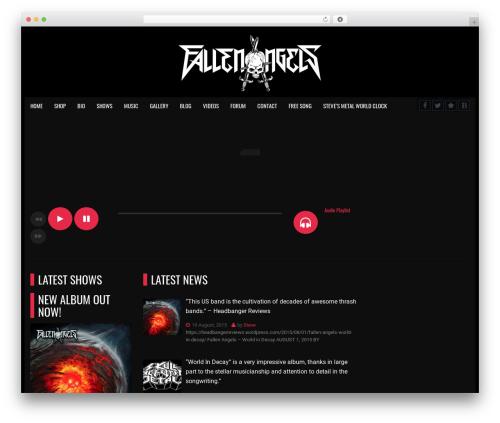 werock theme WordPress - fallenangelsthrashband.com