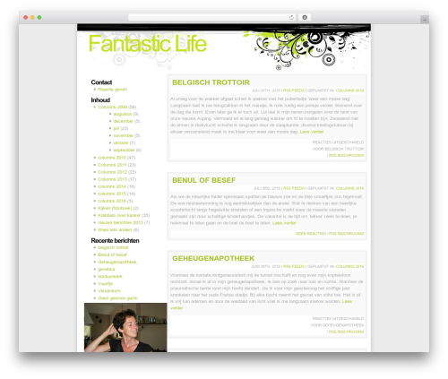 WordPress template Fusion - fantasticlife.nl
