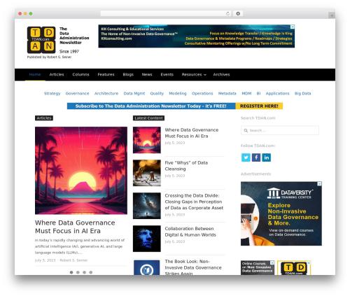 WordPress template NewsPlus - tdan.com