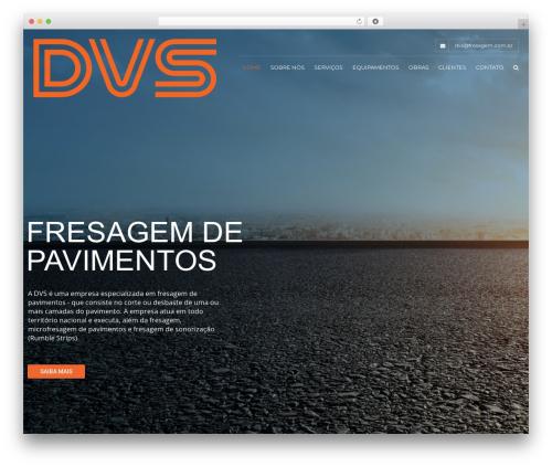 WordPress website template Construction - fresagem.com.br