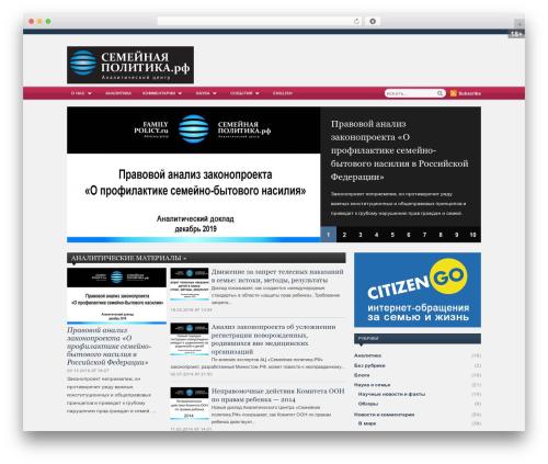 WordPress website template Zenko Magazine - familypolicy.ru
