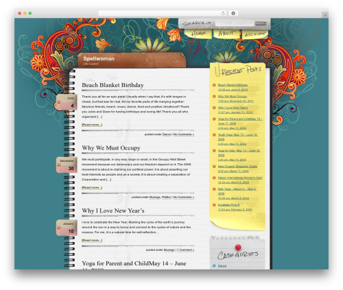 Best WordPress template Notepad Chaos - spellwoman.com