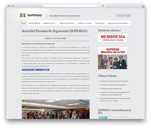 Best WordPress theme Minimal - sopergo.com/v2
