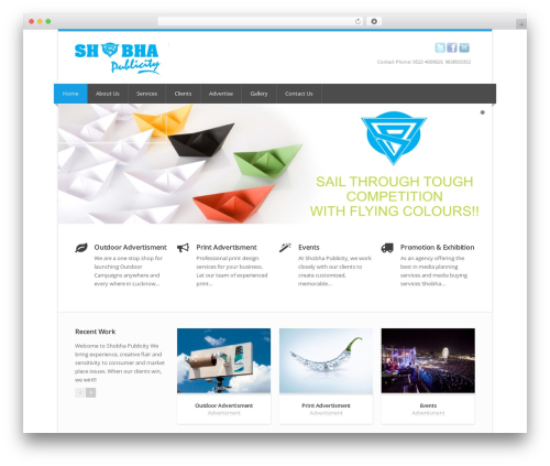 Best WordPress theme Nevia (shared on wplocker.com) - shobhapublicity.com
