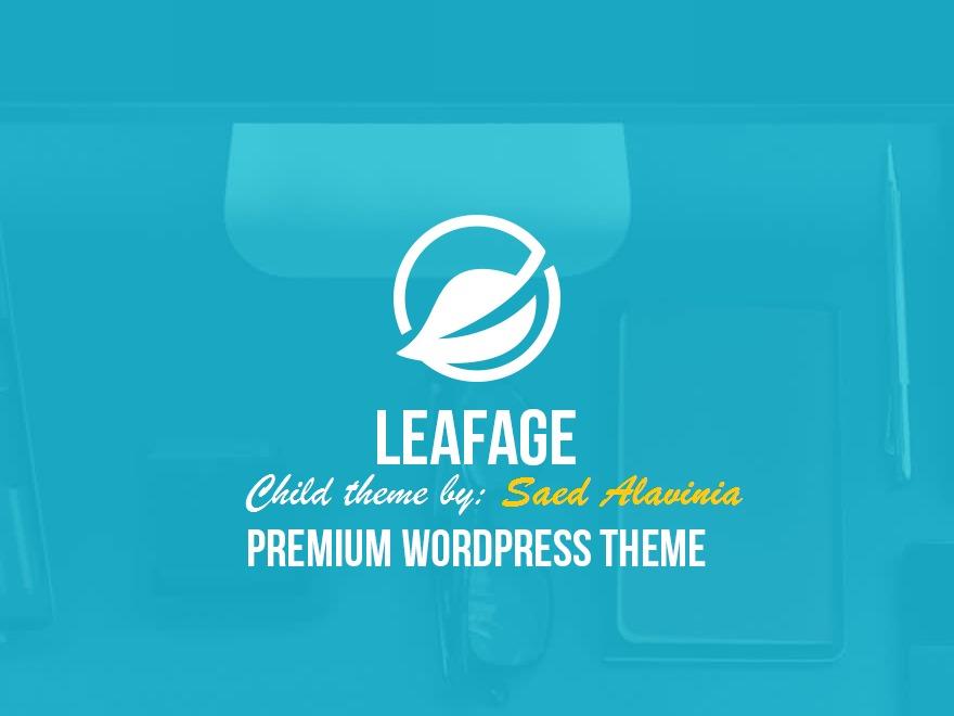 Leafage Child Saed Alavinia theme WordPress