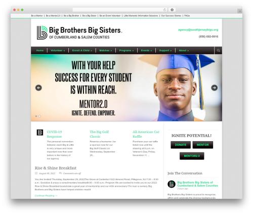 Modernize WordPress template - southjerseybigs.org