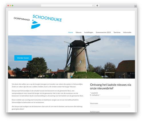 Spacious WordPress page template - schoondijke.info
